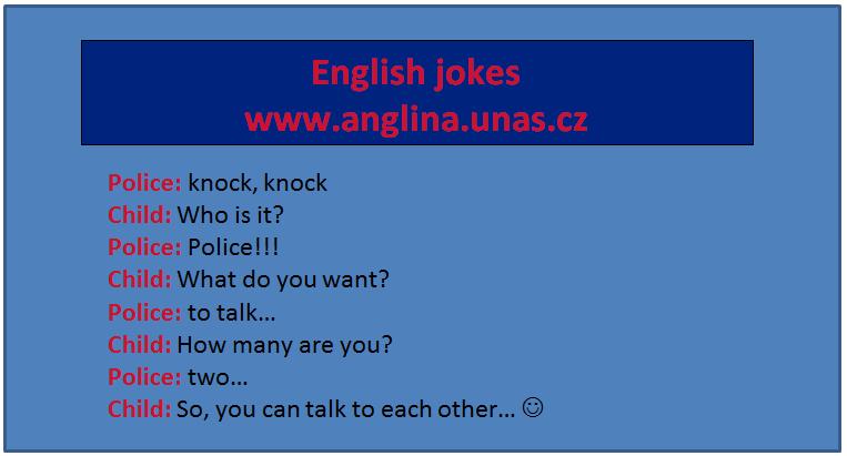Angličtina testy - testy z angličtiny. Testy na procvičení. English jokes