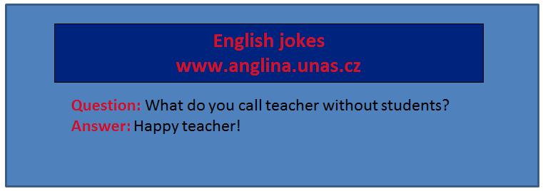 """Angličtina online a zdarma - Angličtina pro začátečníky - english jokes - sloveso """"to be"""" učte se angličtinu s úsměvem"""