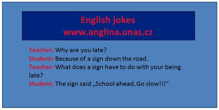Angličtina online a zdarma - přivlastňovací pád na www.anglina.uNas.cz - english jokes zdarma - angličtina nemusí být jenom nuda