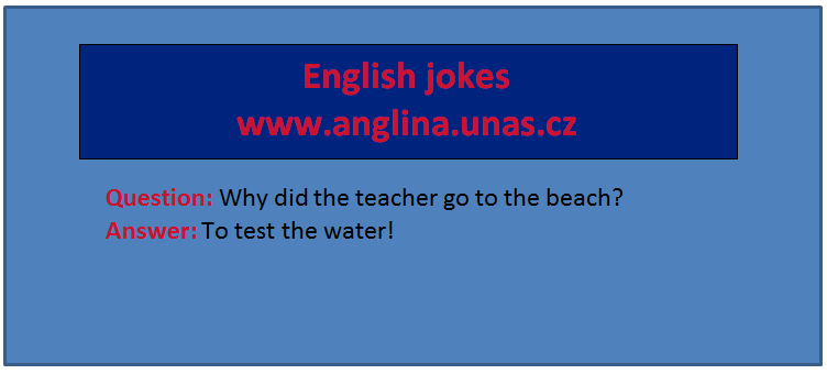Angličtina online a zdarma - přivlastňovací zájmena na www.anglina.uNas.cz - english jokes zdarma a online