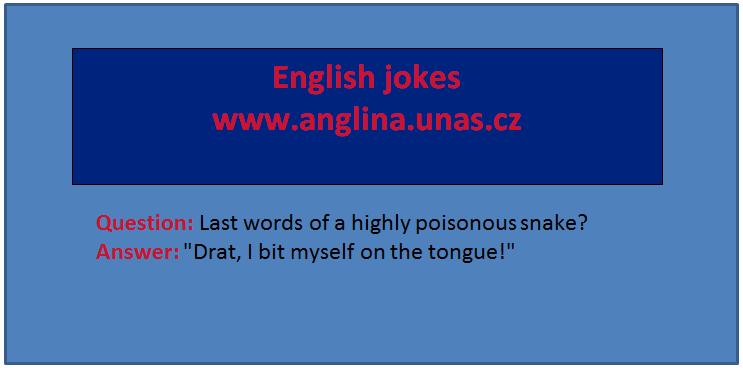 Angličtina online a zdarma - Anglická Předpřítomný čas prostý - na www.Anglina.uNas.cz - english jokes zdarma - předpřítomný prostý čas (Present perfect simple)
