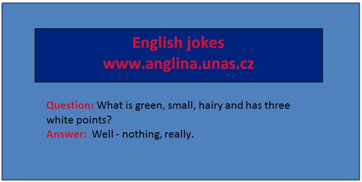 Angličtina online a zdarma - Angličtina pro děti - na www.Anglina.uNas.cz - english jokes zdarma - jednoduše napsané stránky pro děti - angličtina pro nejmenší