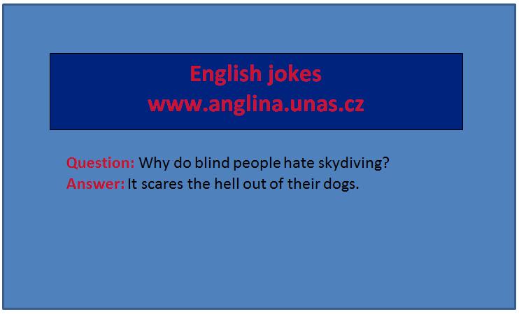 """English Jokes na Anglina.uNas.cz - učte se angličtinu online a s úsměvem - vazba """"be going to"""""""