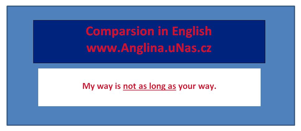 Porovnávání pomocí přídavných jmen v angličtině